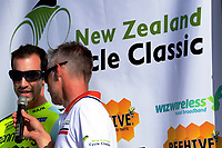 2017 champion Joe Cooper. The opening ceremony of the NZ Cycle Classic UCI Oceania Tour at Mitre 10 Mega in Masterton, New Zealand on Tuesday, 16 January 2018. Photo: Dave Lintott / lintottphoto.co.nz