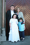 Dairín Murphy and family at the Fatima Communion in St. Marys Church...Photo NEWSFILE/Jenny Matthews.(Photo credit should read Jenny Matthews/NEWSFILE)....This Picture has been sent you under the condtions enclosed by:.Newsfile Ltd..The Studio,.Millmount Abbey,.Drogheda,.Co Meath..Ireland..Tel: +353(0)41-9871240.Fax: +353(0)41-9871260.GSM: +353(0)86-2500958.email: pictures@newsfile.ie.www.newsfile.ie.FTP: 193.120.102.198.