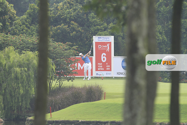 Paul Casey (ENG) on the 6th tee during Round 3 of the CIMB Classic in the Kuala Lumpur Golf &amp; Country Club on Saturday 1st November 2014.<br /> Picture:  Thos Caffrey / www.golffile.ie