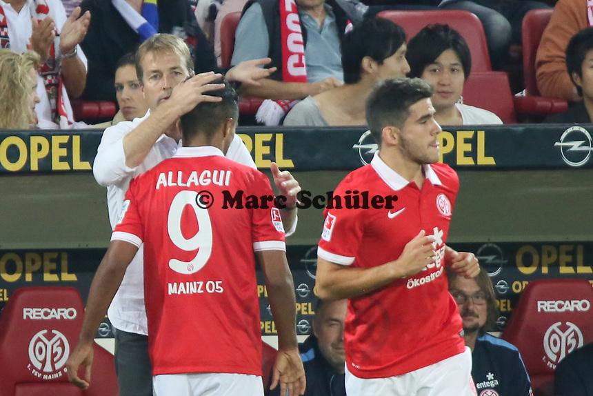 Jairo Samperio (Mainz) wird eingewechselt, Sami Allagui geht - 1. FSV Mainz 05 vs. Borussia Dortmund, Coface Arena