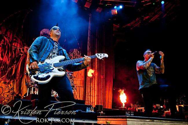Avenged Sevenfold performing at Mayhem, 2010