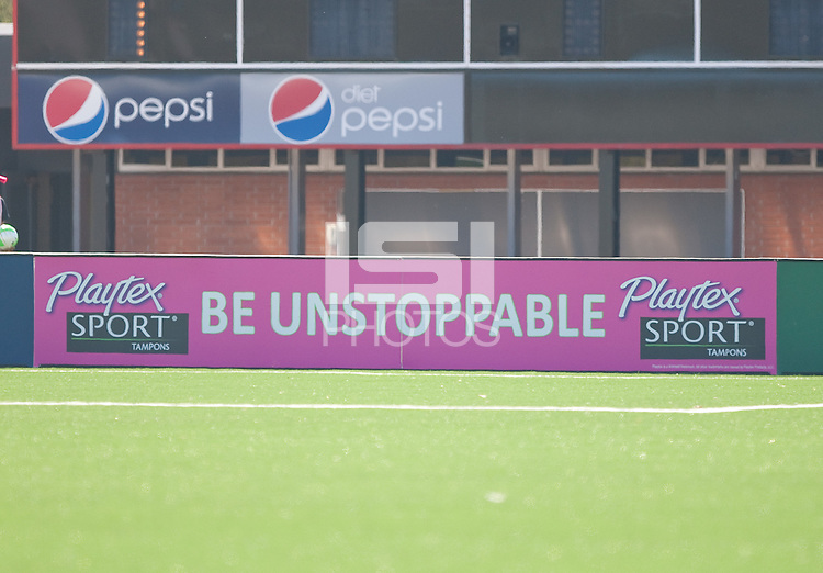 Playtex Signboard. FC Gold Pride defeated the Philadelphia Independence 4-0 to win the 2010 WPS Championship at Pioneer Stadium in Hayward, California on September 26th, 2010.