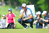 David Howell at the #2 green during the BMW PGA Golf Championship at Wentworth Golf Course, Wentworth Drive, Virginia Water, England on 25 May 2017. Photo by Steve McCarthy/PRiME Media Images.