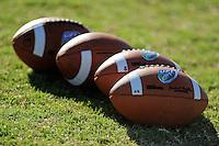Sept. 16, 2009; Casa Grande, AZ, USA; Detailed view of the UFL football designed by Wilson during Las Vegas Locomotives training camp at the Casa Grande Training Facility & Performance Institute. Mandatory Credit: Mark J. Rebilas-