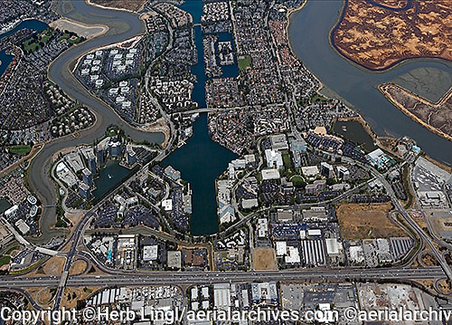 aerial photograph Redwood Shores,Redwood City, San Mateo county, California