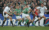 Ireland winger Alan Gaughan on the charge during the first half of the Division A U19 Wiorld Champioship clash with Ireland at Ravenhill, Belfast.
