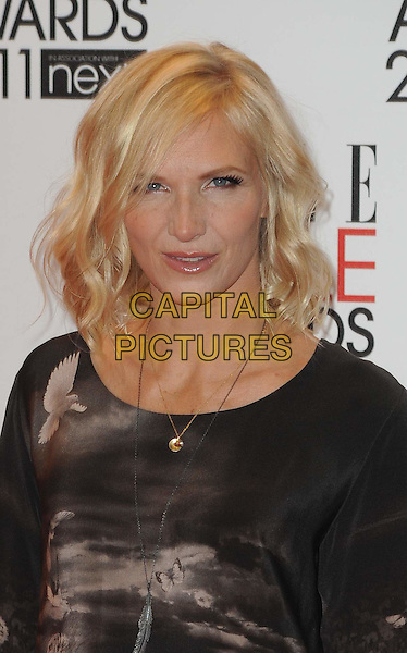JO WHILEY .The ELLE Style Awards 2011 at Grand Connaught Rooms, London, England..February 14th, 2011 .headshot portrait brown print necklace .CAP/WIZ.© Wizard/Capital Pictures.