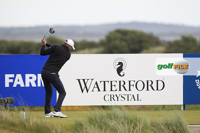 Richard GREEN (AUS) tees off the 9th tee during Saturday's Round 3 of the 2015 Dubai Duty Free Irish Open, Royal County Down Golf Club, Newcastle Co Down, Northern Ireland 5/30/2015<br /> Picture Eoin Clarke, www.golffile.ie