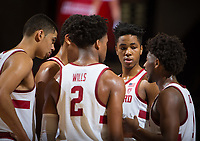 STANFORD, CA - January 26, 2019: Bryce Wills, KZ Okpala, Daejon Davis, Jaiden Delaire, Oscar da Silva at Maples Pavilion. The Stanford Cardinal defeated the Colorado Buffaloes 75-62.
