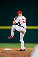 Binghamton Rumble Ponies relief pitcher Tyler Bashlor (20) delivers a pitch during a game against the Erie SeaWolves on May 14, 2018 at NYSEG Stadium in Binghamton, New York.  Binghamton defeated Erie 6-5.  (Mike Janes/Four Seam Images)