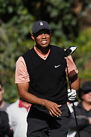 Tiger Woods (USA) plays a shot during the 1st round of The Genesis Invitational, Riviera Country Club, Pacific Palisades, Los Angeles, USA. 12/02/2020<br /> Picture: Golffile | Phil Inglis<br /> <br /> <br /> All photo usage must carry mandatory copyright credit (© Golffile | Phil Inglis)
