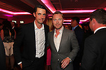 Actor Matthew Goode with singer Ronan Keating.<br /> Celebrity Cup Gala Dinner<br /> Celtic Manor Resort<br /> 05.07.14<br /> &copy;Steve Pope-SPORTINGWALES