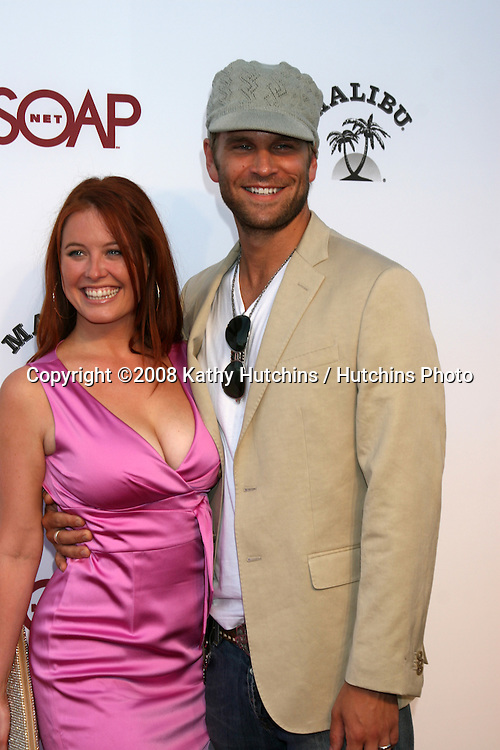"Melissa Archer  & John Brotherton arriving at the SoapNet ""Night Before Party"" for the nominees of the 2008 Daytime Emmy Awards at Crimson & Opera in Hollywood, CA.June 19, 2008.©2008 Kathy Hutchins / Hutchins Photo ."