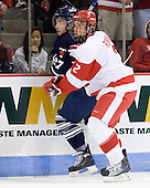 Anthony Bergin (Toronto - 27), Ryan Ruikka (BU - 2) - The Boston University Terriers defeated the visiting University of Toronto Varsity Blues 9-3 on Saturday, October 2, 2010, at Agganis Arena in Boston, MA.