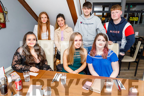 Shannon Hegarty from Tralee celebrating her 20th birthday in La Scala on Saturday<br /> Seated l to r: Nicole Canty, Shannon Hegarty and Shauna Browne.<br /> Back l to r: Kerri-Lisa McGillicuddy, Evonne Donoghue, Calum Baker and Conor Casey.