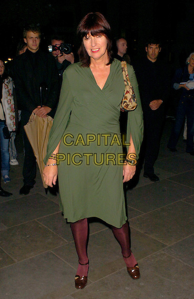 JANET STREET-PORTER.The VIP private viewing of portraits by artist David Hockney at the National Portrait Gallery, London, UK..October 11th, 2006 .Ref: CAN.full length Street Porter green dress.www.capitalpictures.com.sales@capitalpictures.com.©Can Nguyen/Capital Pictures.