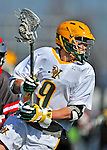 17 March 2012: University of Vermont Catamount Attackman/Midfielder Garrett Virtue, a Junior from Rye, NY, in action against against the Sacred Heart University Pioneers at Virtue Field in Burlington, Vermont. The Catamounts defeated the visiting Pioneers 12-11 with only 10 seconds remaining in their non-conference matchup. Mandatory Credit: Ed Wolfstein Photo