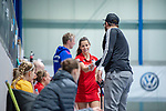 Mannheim, Germany, December 01: During the Bundesliga indoor women hockey match between Mannheimer HC and Nuernberger HTC on December 1, 2019 at Irma-Roechling-Halle in Mannheim, Germany. Final score 7-1. (Copyright Dirk Markgraf / 265-images.com) *** Clara Badia Bogner #9 of Mannheimer HC
