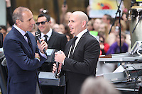 May 25, 2012: Matt Lauer interviews Pitbull during his appearance on the NBC Today Show Toyota Concert Series in New York City. © RW/MediaPunch Inc.