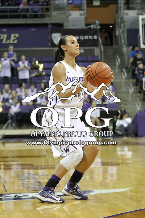 Feb 06, 2015:  Washington's Brianna Ruiz  against Oregon State.  Washington defeated Oregon State 76-67 at Alaska Airlines Arena in Seattle, WA.