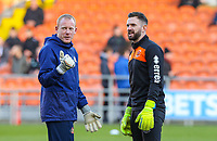Blackpool's Mark Howard chats with Sunderland's goalkeeping coach Craig Samson<br /> <br /> Photographer Alex Dodd/CameraSport<br /> <br /> The EFL Sky Bet League One - Blackpool v Sunderland - Tuesday 1st January 2019 - Bloomfield Road - Blackpool<br /> <br /> World Copyright © 2019 CameraSport. All rights reserved. 43 Linden Ave. Countesthorpe. Leicester. England. LE8 5PG - Tel: +44 (0) 116 277 4147 - admin@camerasport.com - www.camerasport.com