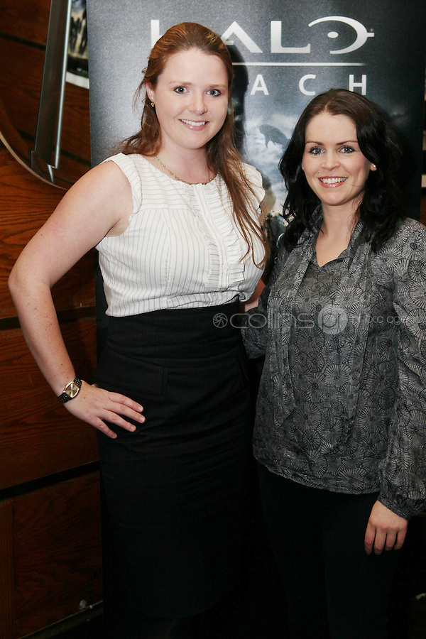 NO REPRO FEE. 14/9/2010. launch of Halo: Reach. Pictured at the Odeon Dublin for the launch of Halo: Reach are Katherine Mulcahy and Susan Flynn. Halo: Reach tells the tragic and heroic story of Noble Team, a group of Spartans, who through great sacrifice and courage, saved countless lives in the face of impossible odds. Picture James Horan/Collins Photos