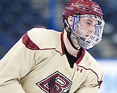 Brian Dumoulin (BC - 2) - The Boston College Eagles practiced on Wednesday, April 4, 2012, during the 2012 Frozen Four at the Tampa Bay Times Forum in Tampa, Florida.