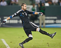 CARSON, CA – September 9, 2011: Colorado Rapid goalie Matt Pickens (18)  during the match between LA Galaxy and Colorado Rapids at the Home Depot Center in Carson, California. Final score LA Galaxy 1, Colorado Rapids 0.