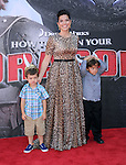 America Ferrera and nephews attends The Twentieth Century Fox's How To Train Your Dragon 2 Premiere at The Regency Village in Westwood, California on JUNE 08,2014                                                                               © 2014 Hollywood Press Agency