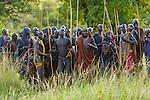Surma tribesmen, Omo River Valley, Ethiopia