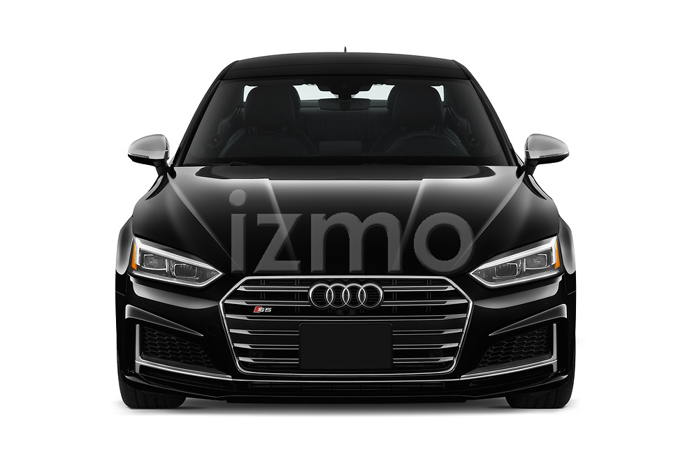 Car photography straight front view of a 2018 Audi S5 Premium Plus 2 Door Coupe