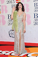 Marina and the Diamonds arriving at The Brit Awards 2015 (Brits) held at the O2 - Arrivals, London. 25/02/2015 Picture by: James Smith / Featureflash