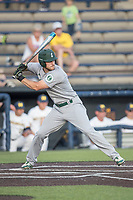 Eastern Michigan Eagles outfielder Mike Mioduszewski (15) at bat during the NCAA baseball game against the Michigan Wolverines on May 16, 2017 at Ray Fisher Stadium in Ann Arbor, Michigan. Michigan defeated Eastern Michigan 12-4. (Andrew Woolley/Four Seam Images)
