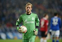 FUSSBALL   1. BUNDESLIGA   SAISON 2012/2013    18. SPIELTAG FC Schalke 04 - Hannover 96                           18.01.2013 Timo Hildebrand (FC Schalke 04) ist enttaeuscht