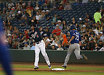 Las Vegas 51s' Steven Matz is safe at first as Reno Aces&rsquo; Christian Walker comes off the bag for an errant throw in Reno, Nev. on Saturday, June 3, 2017. The 51s won 9-5.<br /> Photo by Cathleen Allison/Nevada Photo Source