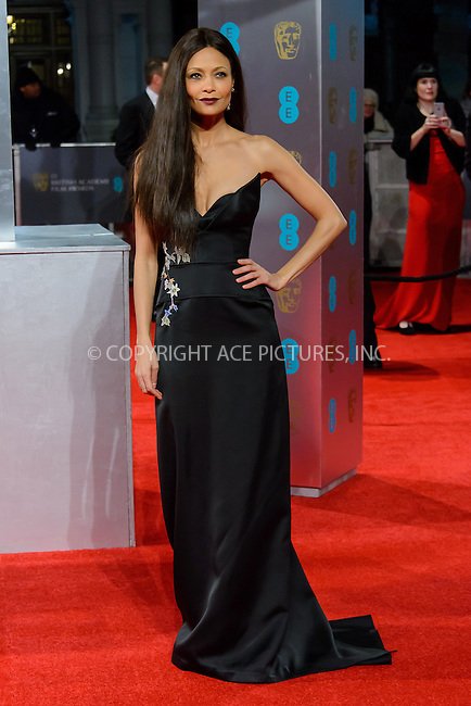 www.acepixs.com<br /> <br /> February 12 2017, London<br /> <br /> Thandie Newton arriving at the 70th EE British Academy Film Awards (BAFTA) at the Royal Albert Hall on February 12, 2017 in London, England<br /> <br /> By Line: Famous/ACE Pictures<br /> <br /> <br /> ACE Pictures Inc<br /> Tel: 6467670430<br /> Email: info@acepixs.com<br /> www.acepixs.com