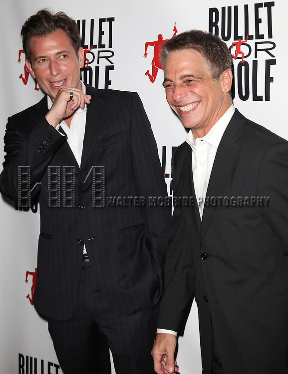 Peter Cincotti & Tony Danza attending the Opening Night Performance of 'Bullet For Adolf' at the New World Stages in New York City on 8/8/2012 *   © Walter McBride / WM Photography