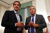 Raffaele Fitto e Maurizio Gasparri<br /> Roma 24-09-2015 Incontro 'Per l'Italia - Ricostruiamo il centrodestra'.<br /> Photo Samantha Zucchi Insidefoto