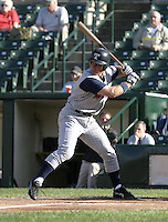 June 1, 2004:  Andy Barkett of the Toledo Mudhens during a game at Frontier Field in Rochester, NY.  The Mudhens are the Triple-A International League affiliate of the Detroit Tigers.  Photo By Mike Janes/Four Seam Images