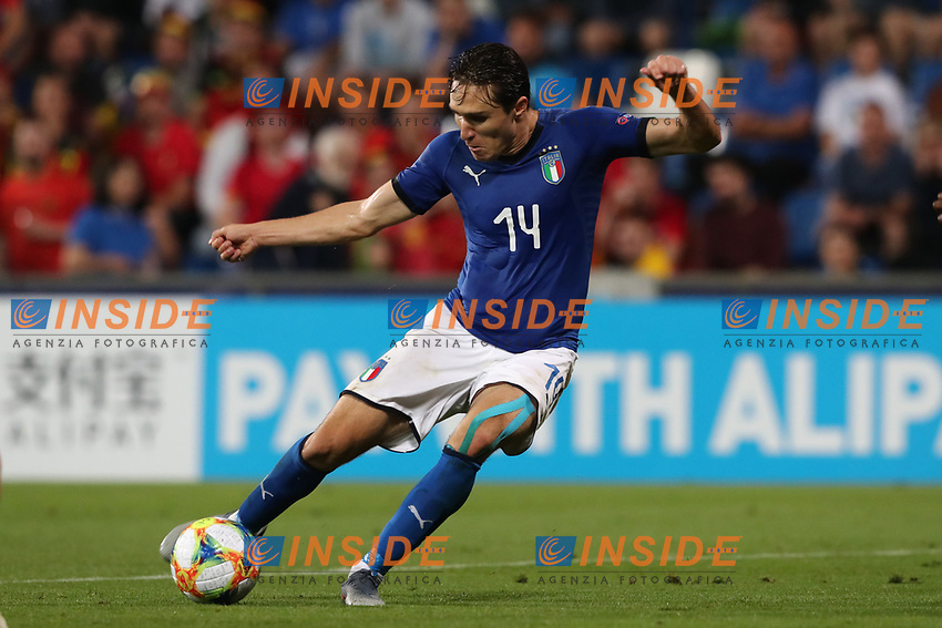 Federico Chiesa of Italy in action<br /> Reggio Emilia 22-06-2019 Stadio Città del Tricolore <br /> Football UEFA Under 21 Championship Italy 2019<br /> Group Stage - Final Tournament Group A<br /> Belgium - Italy<br /> Photo Cesare Purini / Insidefoto