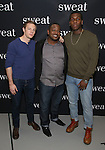 Will Pullen, Lance Coadie Williams and Khris Davis attends the photocall for the Broadway cast of 'Sweat'  at The New 42nd Street Studios on 2/16/2017 in New York City.