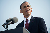 United States President Barack Obama delivers remarks during a remembrance ceremony for the 12th anniversary of the 9/11 terrorist attacks, at the Pentagon on September 11, 2013 in Arlington, Virginia. <br /> Credit: Kevin Dietsch / Pool via CNP