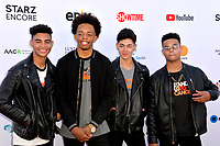SANTA MONICA, CA. September 07, 2018: 4th Ave - Jaden Gray, Camry Jackson, Mikey Jimenez & Marcus Pendelton - at the 2018 Stand Up To Cancer fundraiser at Barker Hangar, Santa Monica Airport.SANTA MONICA, CA. September 07, 2018: 4th Ave at the 2018 Stand Up To Cancer fundraiser at Barker Hangar, Santa Monica Airport.
