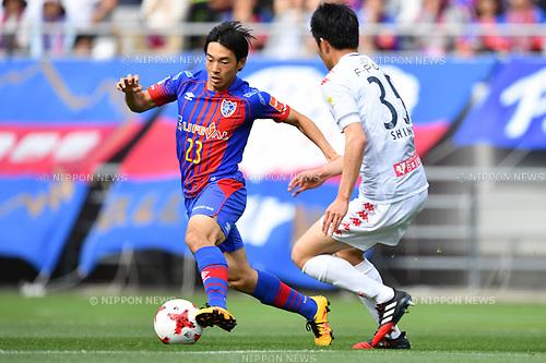 Shoya Nakajima (FC Tokyo), <br /> MAY 3, 2017 - Football / Soccer : <br /> 2017 J.League YBC Levain Cup Group A <br /> match between F.C.Tokyo 1-0 Consadole Sapporo <br /> at Ajinomoto Stadium in Tokyo, Japan. <br /> (Photo by AFLO SPORT)