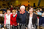 Margaret Sullivan, Marie Sullivan, Donie Sullivan and Geraldine Sullivan from Abbeydorney enjoying the Radio Kerry All Irish Music Concert in the Brandon Hotel on Monday