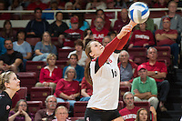 STANFORD, CA - Stanford University Women's Volleyball defeats Arizona State in straight sets at Maples Pavilion.