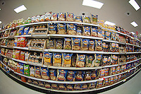 A selection of tasty snacks in the grocery department in a Target store in Elmhurst in the New York borough of Queens during the Thanksgiving weekend, on Saturday, November 26, 2011. (© Richard B. Levine)