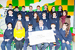 The children from Gneeveguilla NS who made their Confirmation this year all made donations from their Confirmation money to Kerry Hospice they presented the cheque to Ted Moynihan at the school on Friday before they broke for their Easter holidays front row l-r: Ciarraí Jones, Geraldine Shanahan Principal, Damian Cronin, Ted Moynihan, Mark Cronin, Kornelia Cybul. Middle row: Ronan Collins, Luke Tyndel, Donal Daly, Hanorah Hurley, Cora O'Leary, Aoife O'Sullivan, Denis O'Connor teacher. Back row:, Danny Finnegan, Dawid Herdzik, Daniel collins, Paudie Murphy, Aishling Brosnan, Megan Mccarthy, Katie O'Sullivan