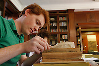 participate in a Rare Book School, an annual summer camp for scholars and other professionals who work with rare books held at the University of Virginia in Charlottesville, Va. Photo/Andrew Shurtleff