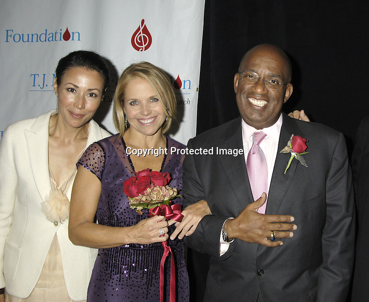 Ann Curry, Al Roker and Katie Couric ..at The 30th Anniversary of the  TJ Martell Foundation Gala on October 6, 2005 at The Marriott Marquis Hotel. ..Photo by Robin Platzer, Twin Images
